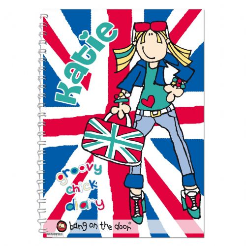 Personalised Bang On The Door Union Jack Chick Diary
